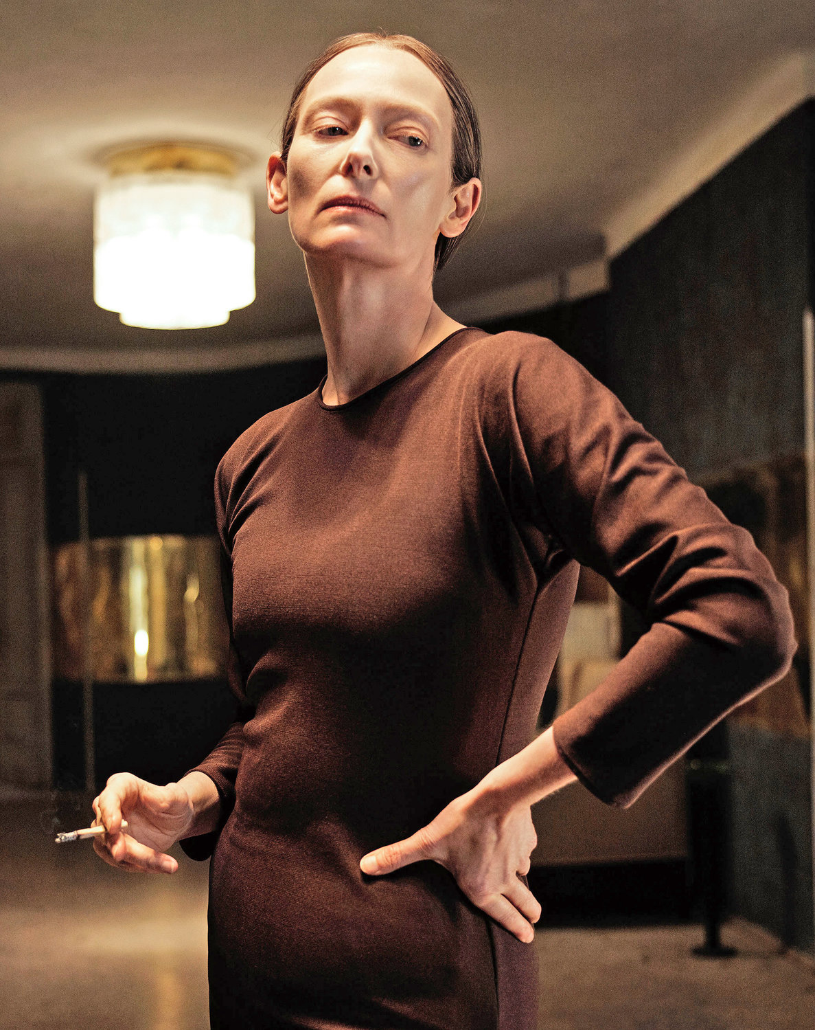 "ACTING RANGE — Tilda Swinton as as Madame Blanc in ""Suspiria."" Swinton plays three distinct roles in the movie."