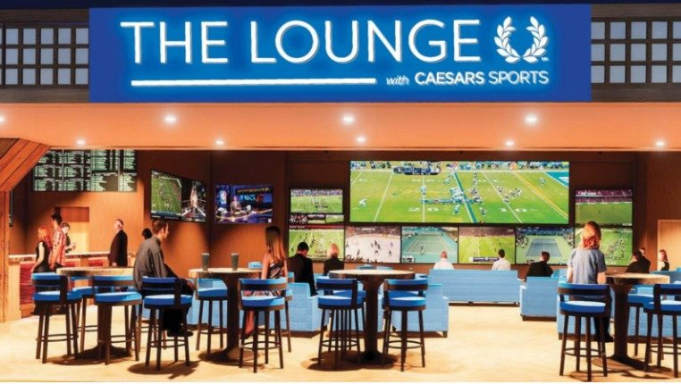 GAMES GALORE — Another artist's rendering of part of a sports-betting lounge planned by the Oneida Indian Nation.