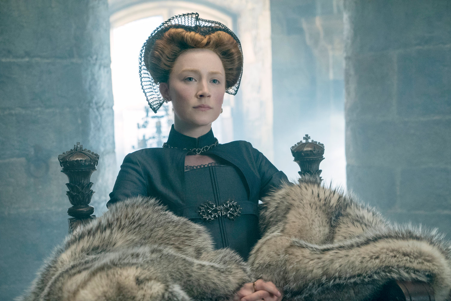 "QUEEN — Saoirse Ronan stars as Mary Stuart in ""Mary Queen of Scots"""