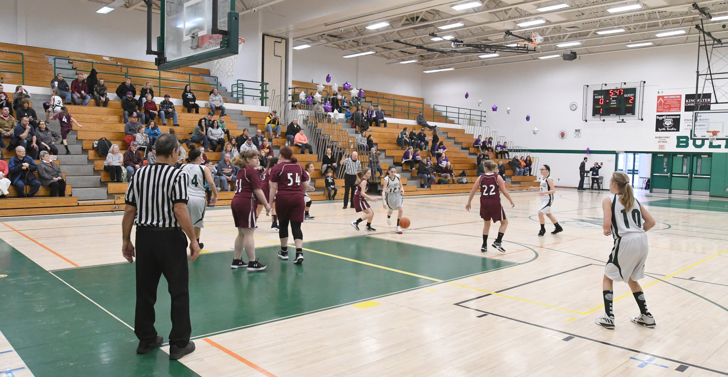 CHARITY BASKETBALL — Modified hoop action between the Westmoreland and Oriskany schools girls'  basketball programs faced off during the Hoops for the Hospital fund-raiser for the More Than A Game Foundation at Westmoreland High School Saturday, Jan. 19.
