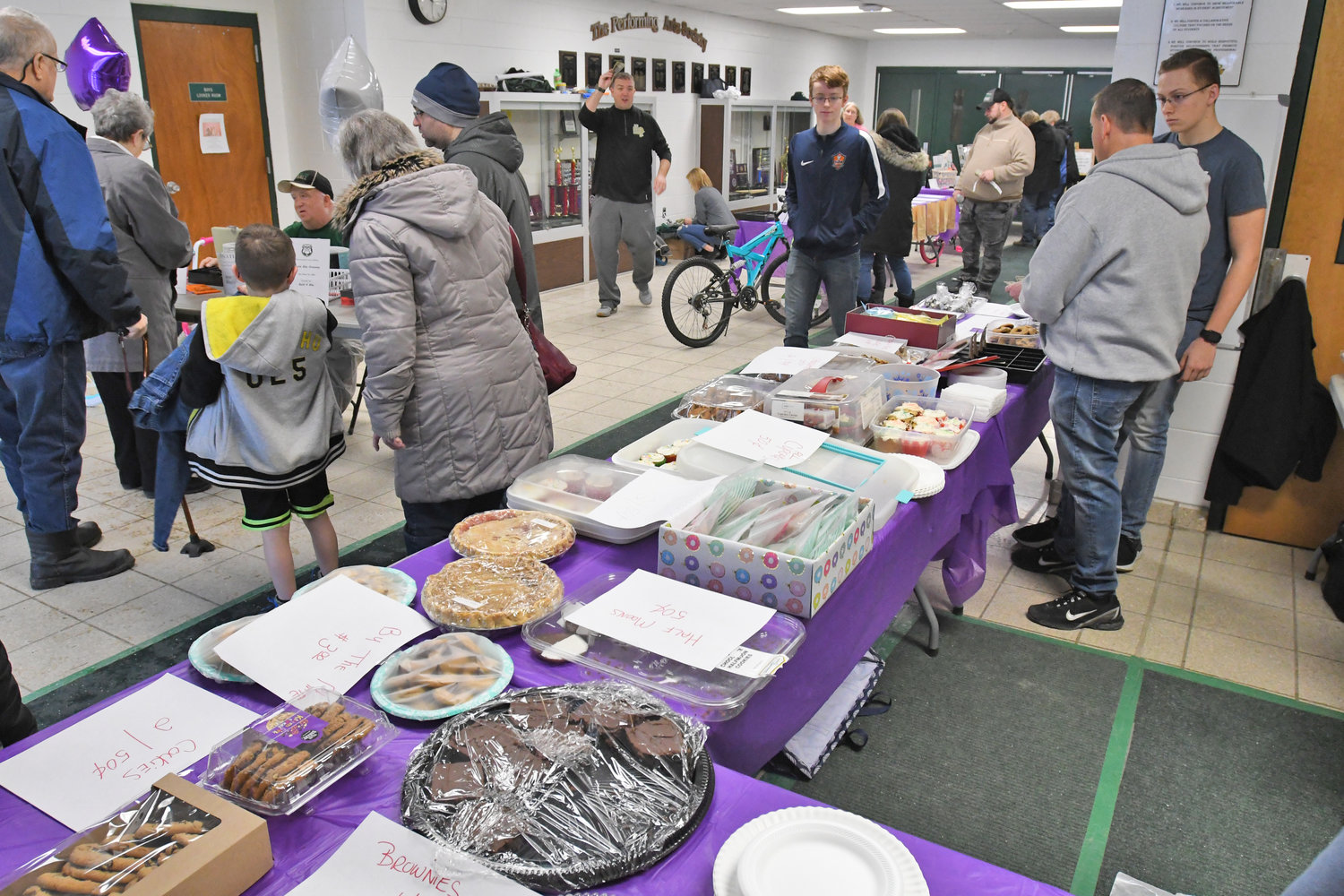 GOODIES FOR A GOOD CAUSE — The bake sale at Westmoreland High School helped raise money for the Golisano Children's Hospital in Syracuse for the Hoops for the Hospital chairty basketball game against Oriskany Central School Saturday, Jan. 19.