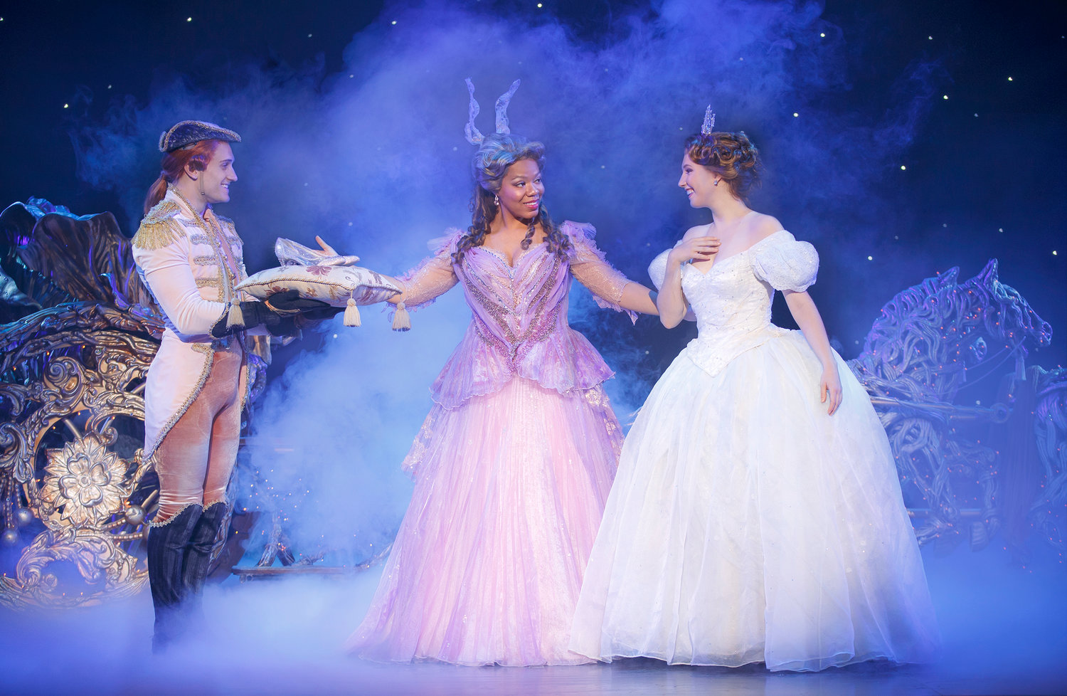 "MAGICAL MOMENT — Tyler Eisenreich, Zina Ellis and Kaitlyn Mayse in ""Rodgers + Hammerstein's Cinderella."""