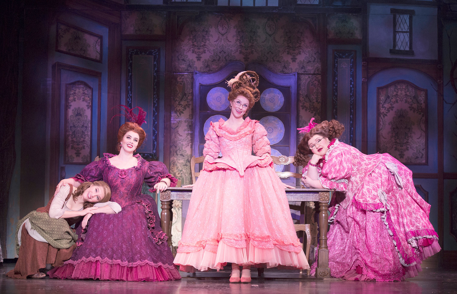 "DREAMING — From left, Kaitlyn Mayse, Sarah Smith, Natalie Girard and Joanna Johnson in ""Rodgers + Hammerstein's Cinderella."""