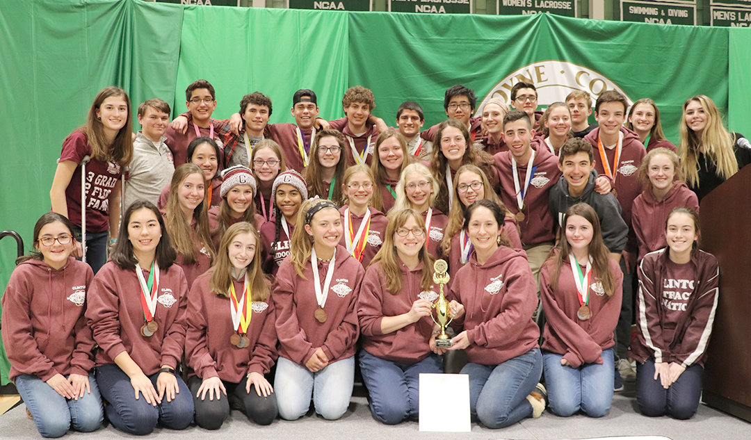 GREAT MINDS — Clinton Central School Science Olympiad teams A and B competed in a regional competition in Syracuse Jan. 26 and 27, with the varsity team placing third and moving on to the state competition in March.