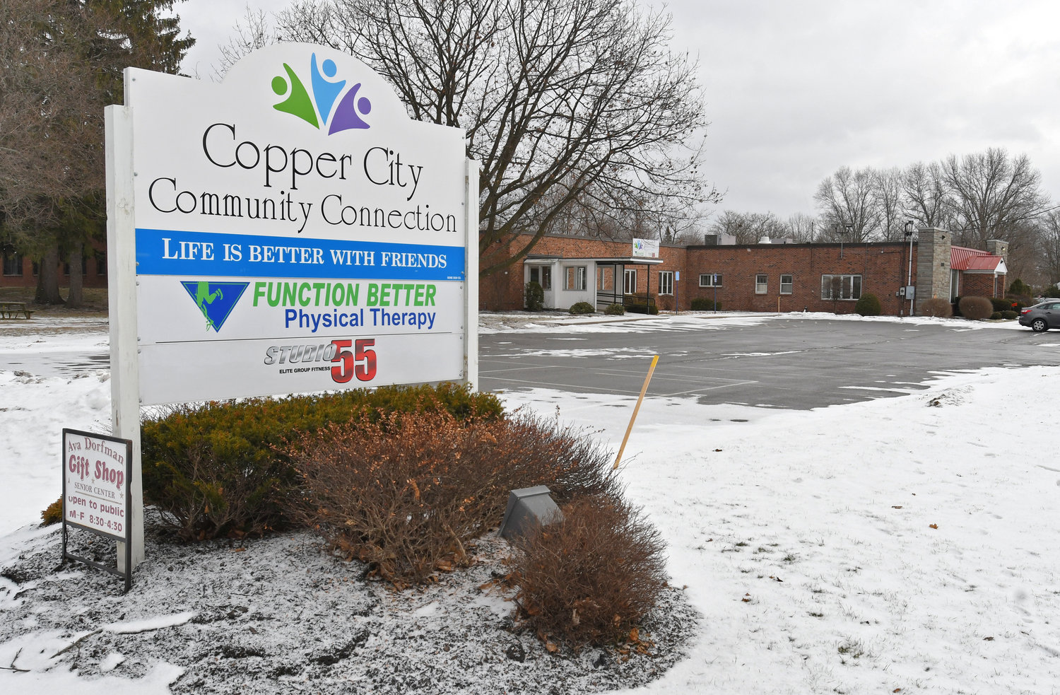 SIGN OF NEW TIMES —  A new sign is out in front of the new Copper City Community Connection on Black River Boulevard. The facility, formerly known as the Ava Dorfman Senior Citizen Center at 305 E. Locust St., is re-imaging aging with programs designed for the active lifestyle of the area's seniors.