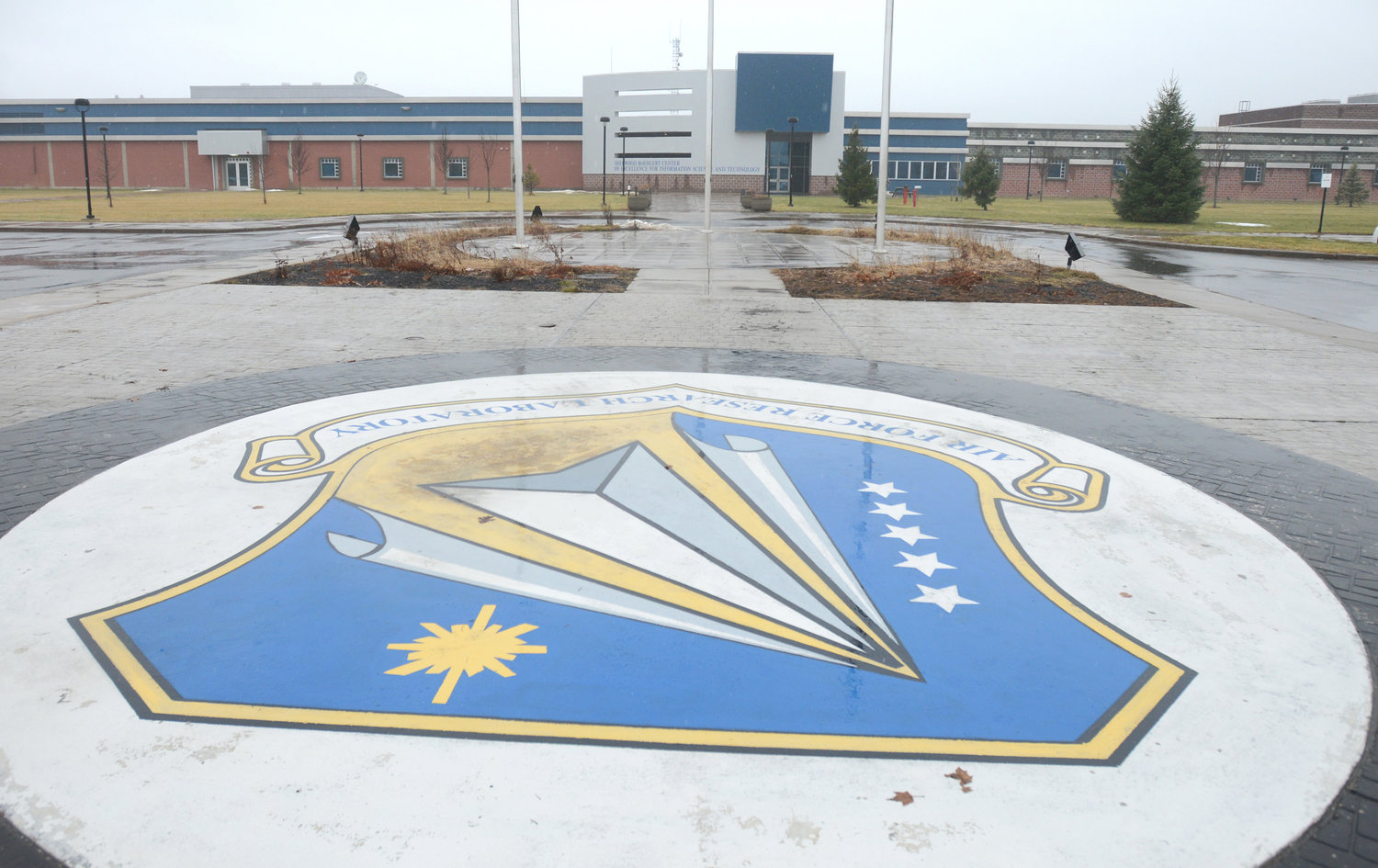 LAB'S IMPACT KEEPS GROWING — An increase in local economic impact and a new high for overall funding received in fiscal 2018 were marked by the Air Force Research Laboratory Information Directorate, whose main entrance at Griffiss park is shown here. The Rome lab's results were noted in an annual economic impact analysis.