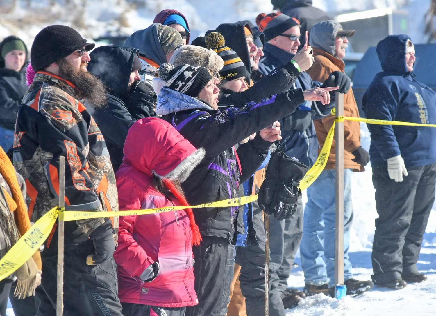 LOOK AT THAT! — Spectators at the Old Dog Races in Taberg on Saturday were treated not only to a rare glimpse of sunny skies but also a wide array of vintage snowmobile racing skills.  Additional photos — www.romesentinel.com.