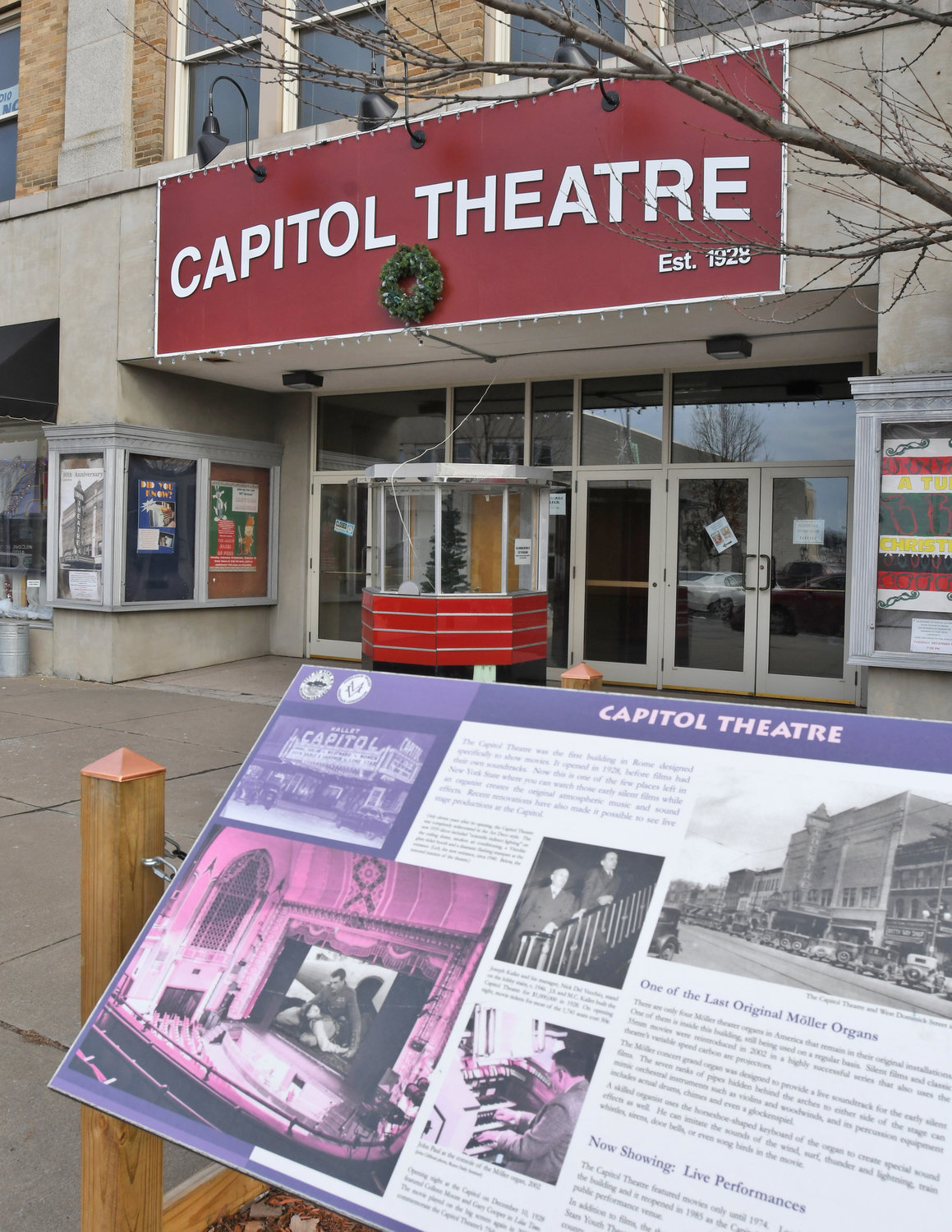 NOW PLAYING — The Capitol Theatre, 220 W. Dominick St., will receive $2.5 million for interior and exterior renovations under through the Downtown Revitalization Initiative. Notably, the theatre will commission a replica of its original 1928 marquee and vertical sign, expected to be installed in 2020.