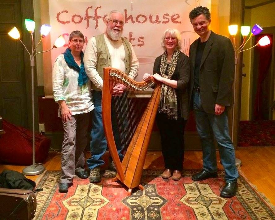 Local musicians Tom Hourican (flute), Eileen McIntyre (harp), Deb Putman (fiddle) and Pat Reynolds (fiddle) are donating their talents and energy for the Irish Evening at the KAC fundraiser on March 16 from 5 to 7:30 p.m.