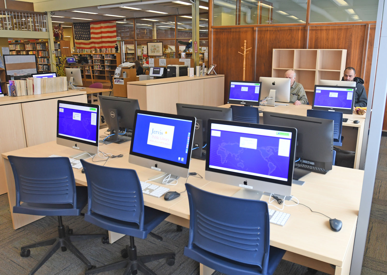 ALL NEW — Jervis Public Library, 613 N. Washington St., expanded its computer lab in 2018 to include five Mac computers and five Windows PCs. The library also added new computers to the internet cluster, the children's room, and the express station last year.