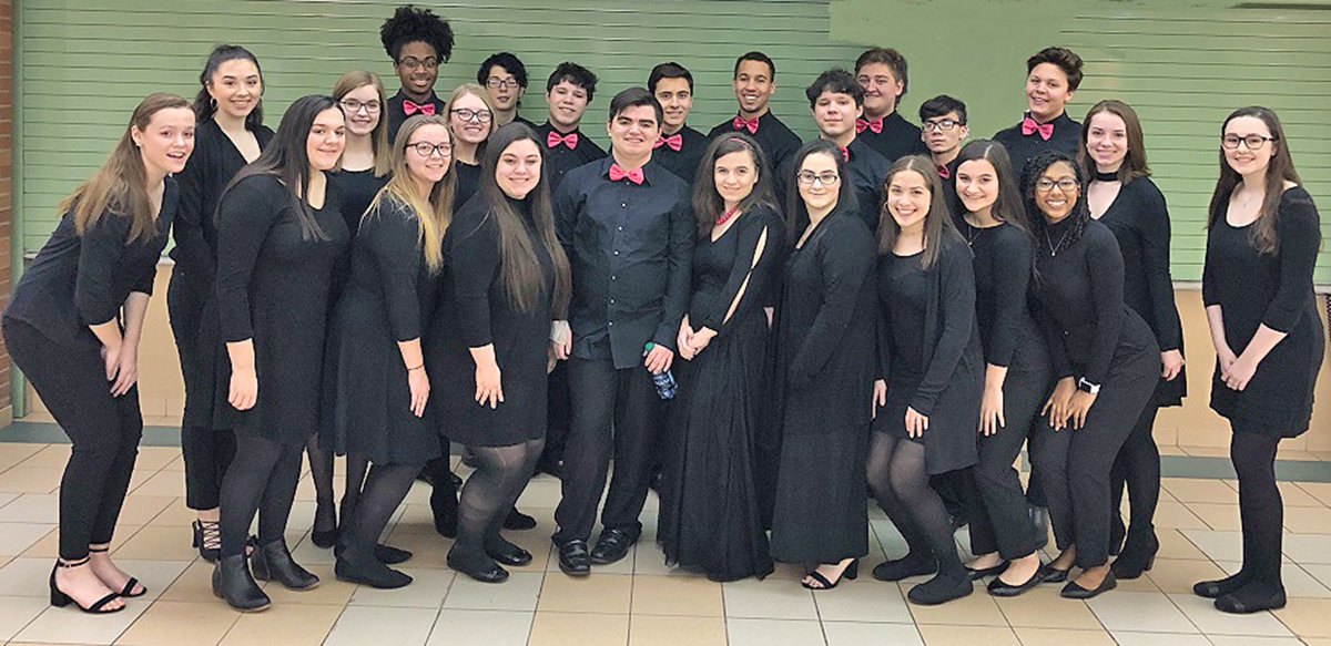 SHOW OPENERS — Members of the Rome Free Academy Singers will help to celebrate the Rome Arts Hall of Fame induction ceremony on Sunday at the Capitol Theatre, 220 W. Dominick St. Among the RFA singers are: Matthew Breault, Kayla Bush, Jacob Carissimo, Jonathan Carissimo, Giana Cheri, Chandni Desai, Alaina DiMaggio, Gianna DiMaggio, Kristen Earl, Tah'Ken Fediw, Kaitlin Flint, Jerome Gordon, Taylor Griffin, Lauryn Haag, Brandon Hensley, Miguel Hernandez, Abigail Morgan, Molly Riggleman, David Salce, Hannah Solomon, Nicholas Stockton, Giovanna Sudol, Ethan Vernold, Arianna Williams and Tori Wright.