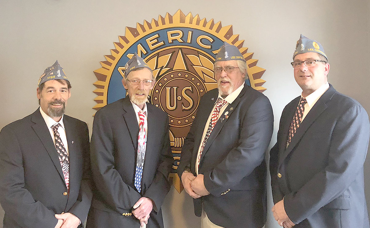 SONS OF AMERICAN LEGION — The Sons of the American Legion at Lee American Legion Post 1794 has installed officers for 2019. From left: Darren Martin, second vice commander; Ron Butler, third vice commander; Shane Haley, treasurer; Bob Washburn, commander.