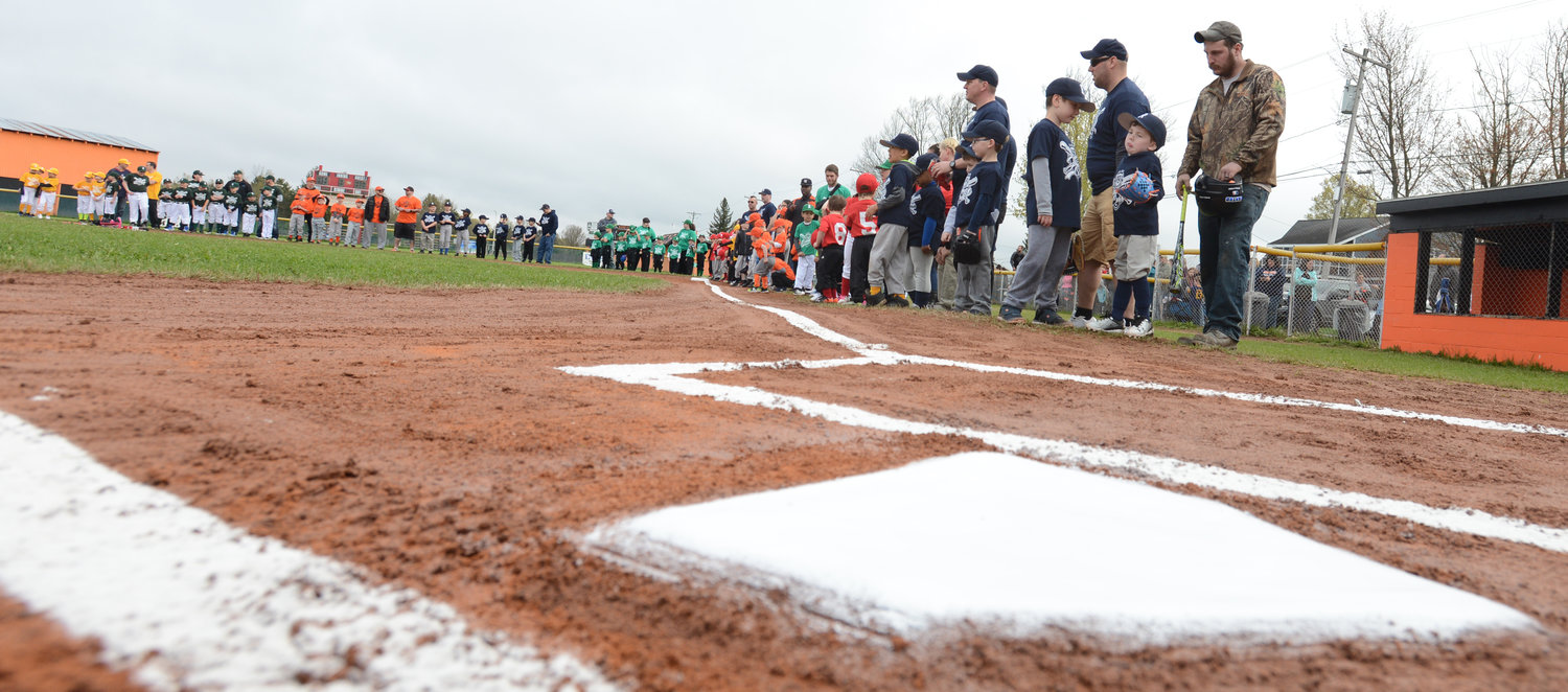 Home Plate during the opening cermony on Bell Road.