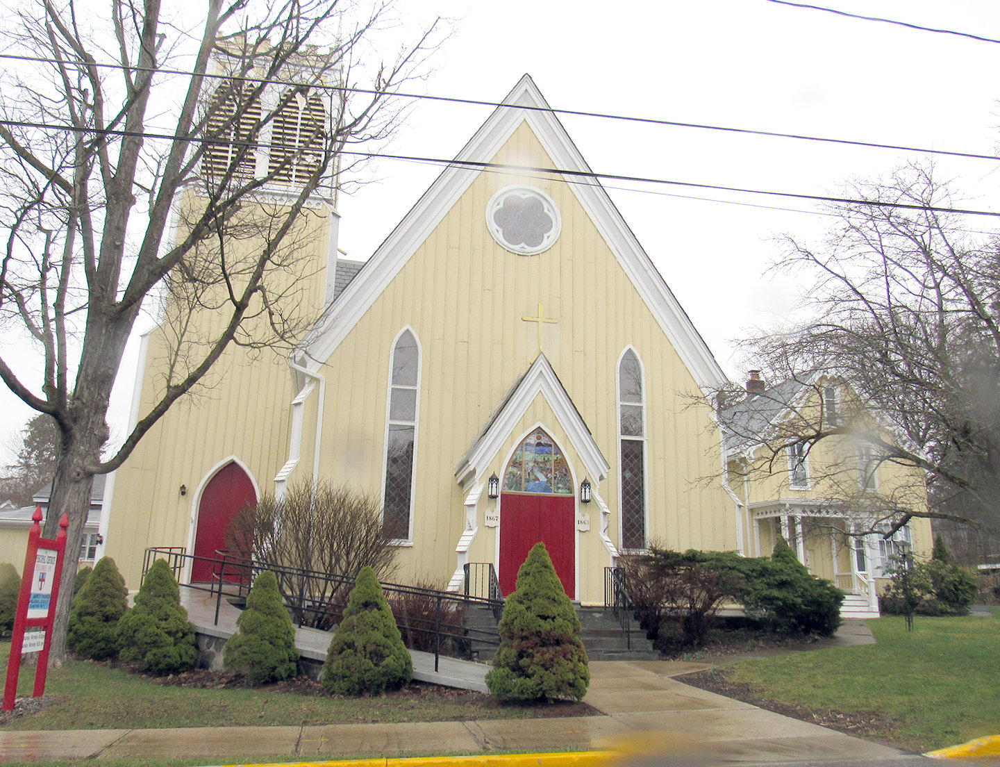 "OPEN HOUSE PLANNED — St. James Episcopal Church, located at  9 Williams St., will be one of the Mohawk Valley congregations participating in New York Landmarks Conservancy's eighth annual ""Sacred Sites Open House"" on May 18 and 19."