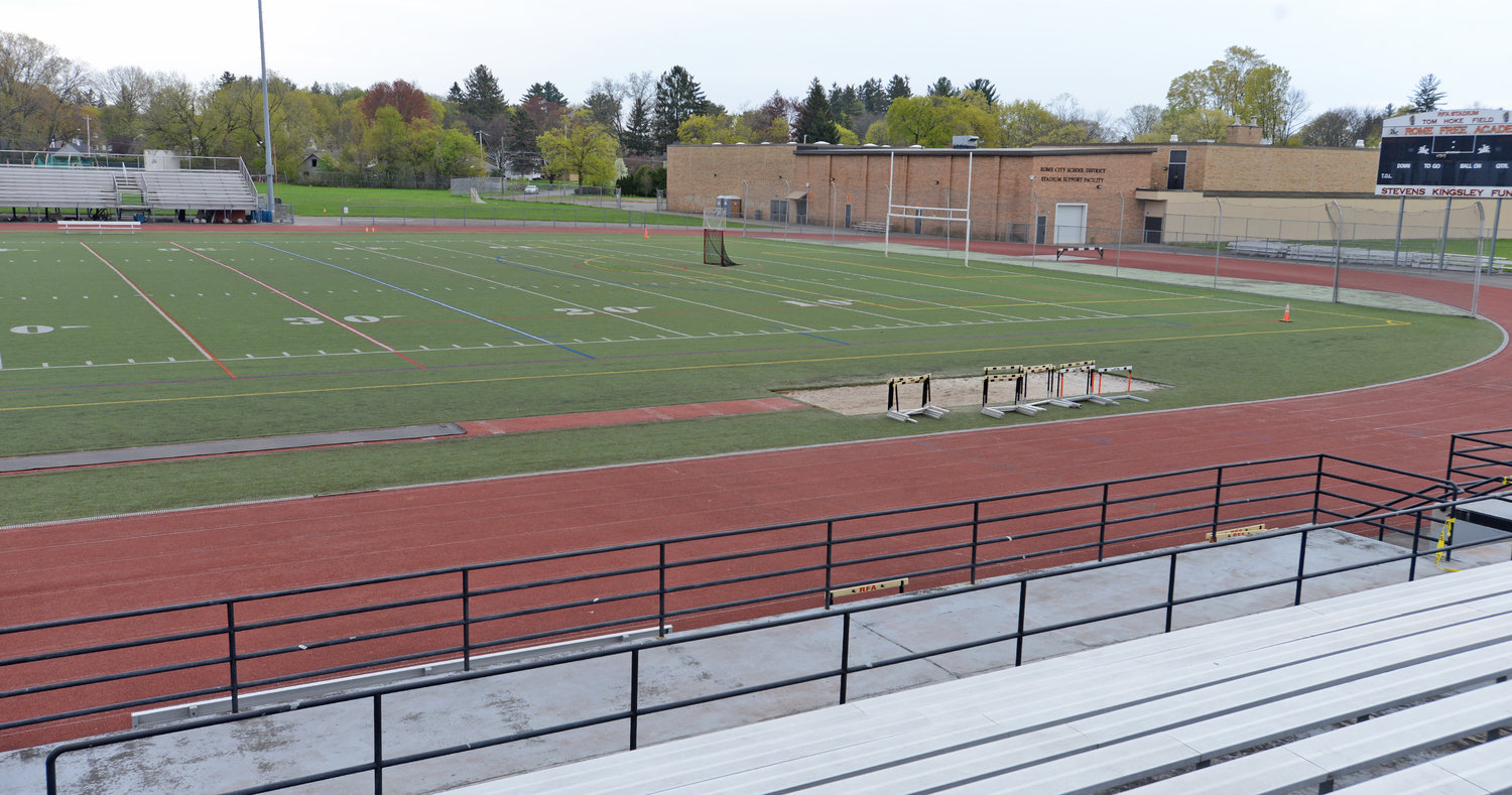 upper view of track at RFA Stadium