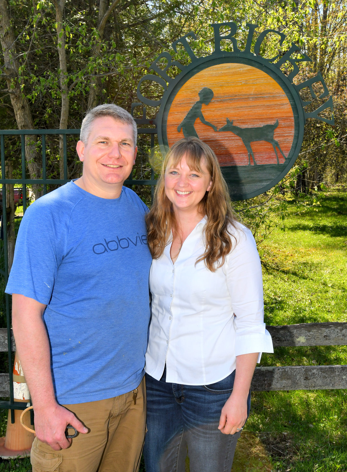 "UNDER NEW MANAGEMENT — Chris and Rebecca Stedman, formerly of Connecticut, are the new owners of Fort Rickey Discover Zoo at 5135 Rome-New London Road. The pair are planning to expand both the zoo and the ""playland"" at the park, they said Wednesday."