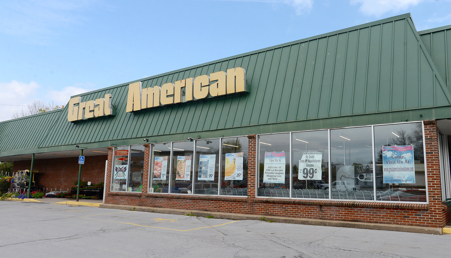 SHUTTING ITS DOORS — The Great American food store, a fixture on Main Street in Boonville for decades, is officially closing its doors June 8. (Sentinel photo by John Clifford)