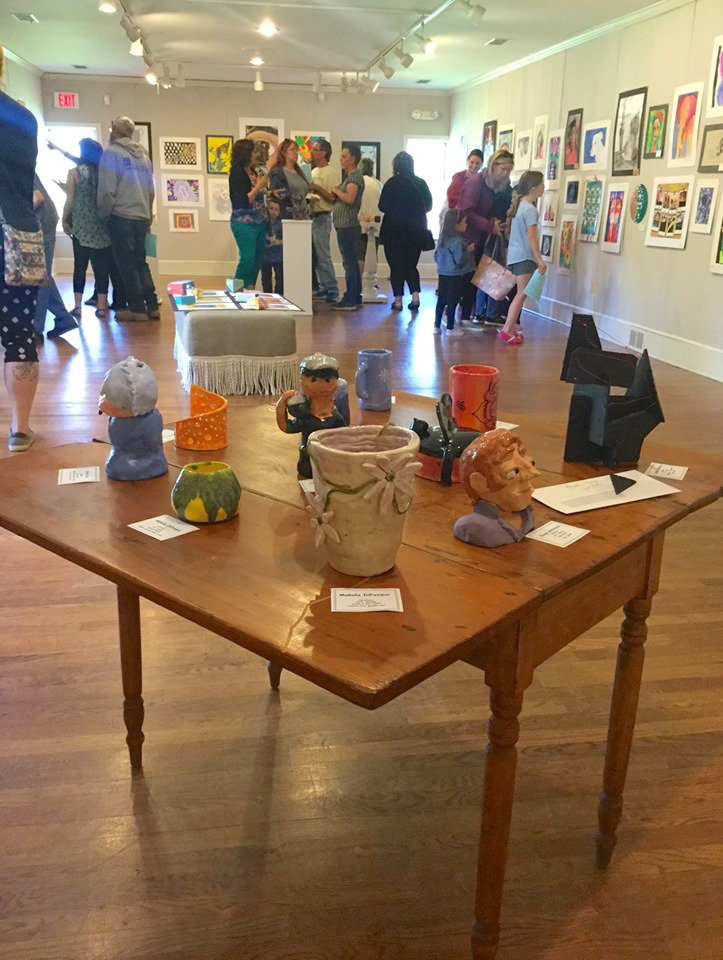 ON DISPLAY — Art pieces made by students of the Rome City School District will be on display at the Rome Art and Community Center, 308 W. Bloomfield St., through June 7. Call 315-336-1040 for more information.