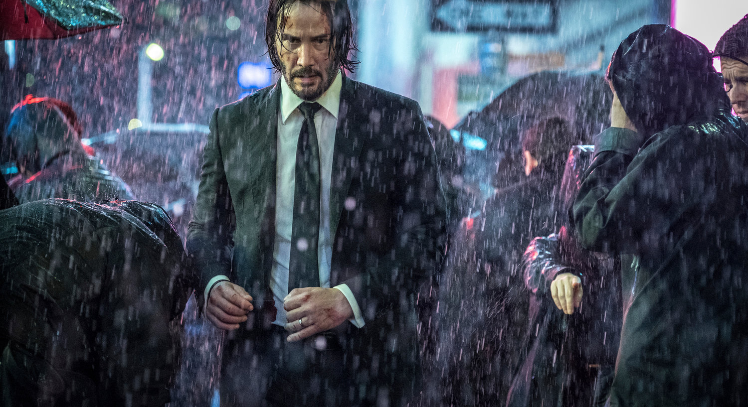 "Chapter 3 — Keanu Reeves in a scene from ""John Wick: Chapter 3 - Parabellum."""
