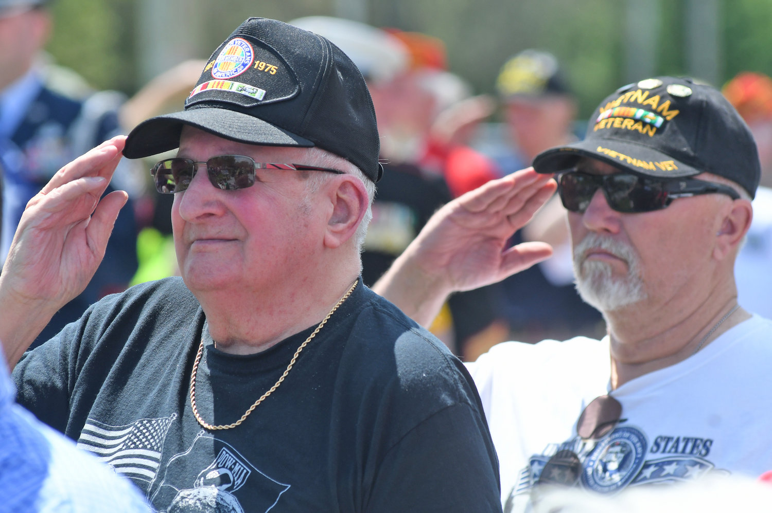 Vietnam vets Gordon Holtzer who served in Vietnam 1968, '69-'71 and Jerry Ingersoll served in Vietnam from 68-73