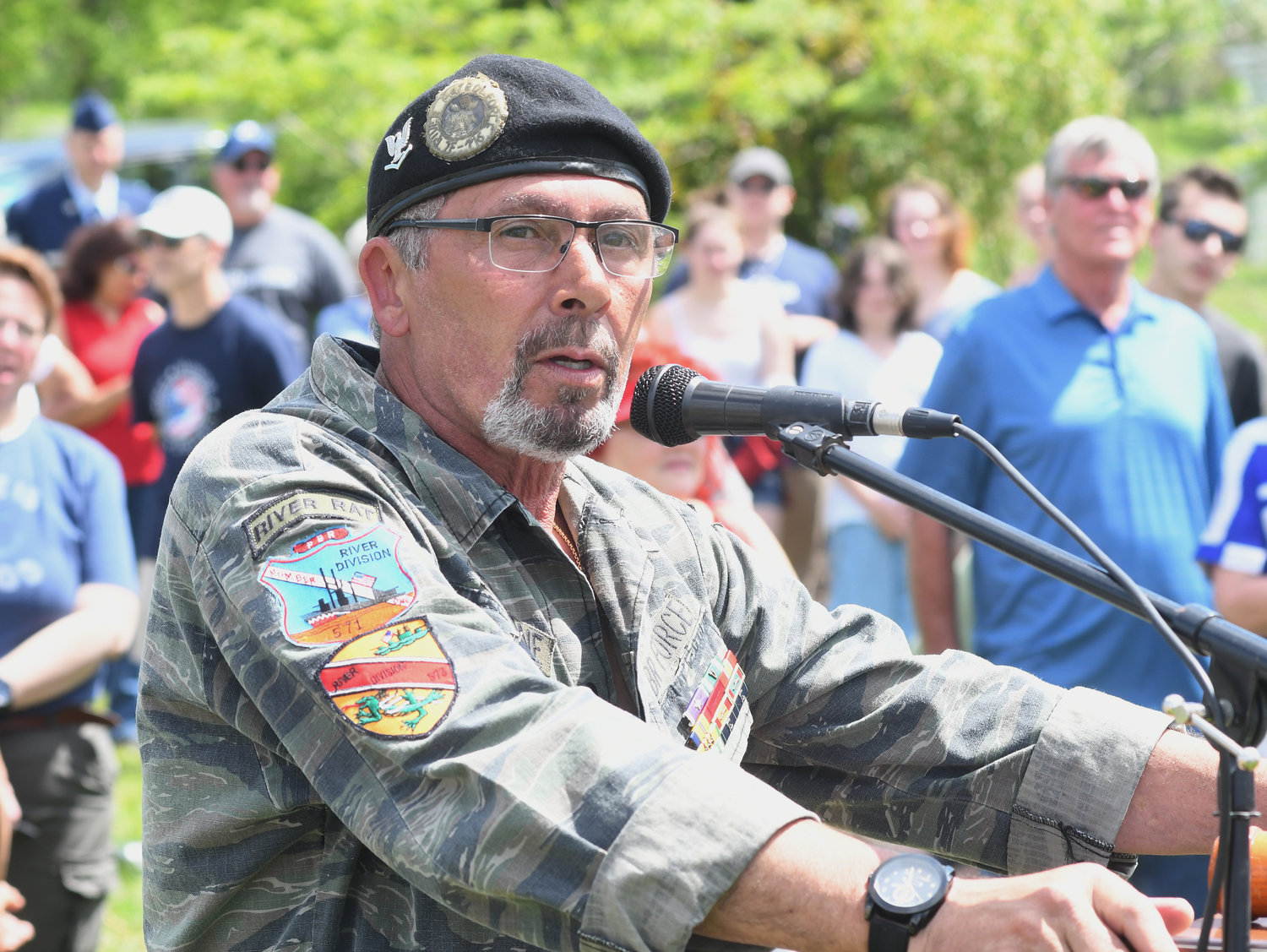 Rick Falcone- president during the Vietnam Memorial dedication ceremony.