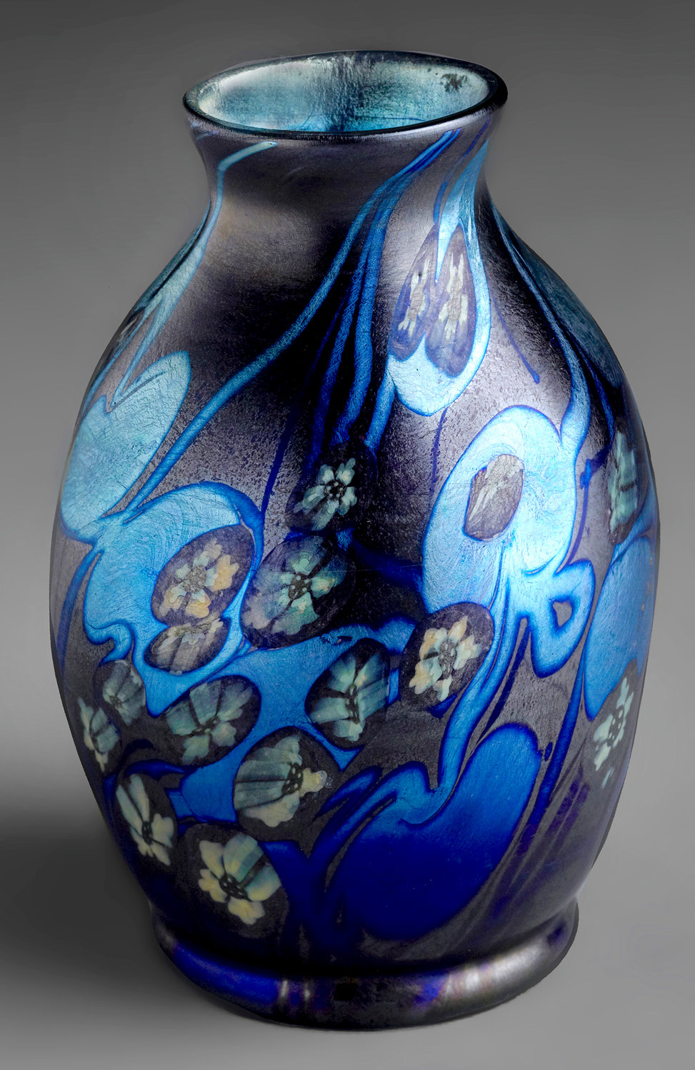 Miniature Vase — c. 1898-1900, blown glass, Tiffany Glass & Decorating Company