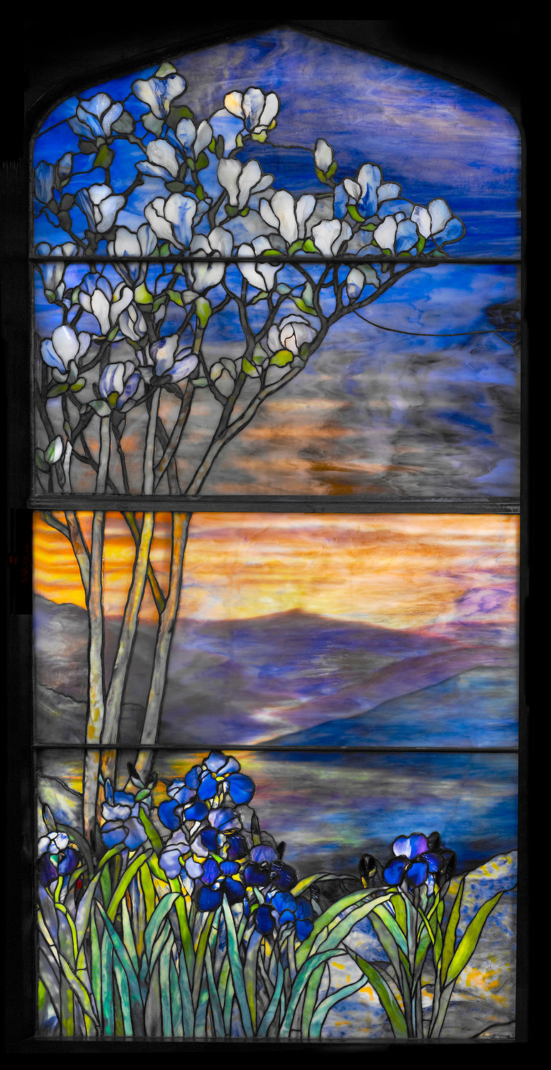 River of Life Window — 1900-1910, leaded glass