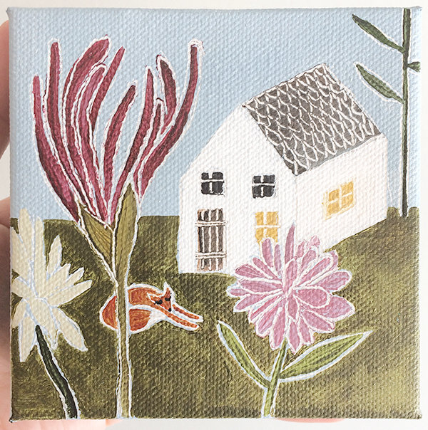 """Fox Flower House"" — Piece by Caroline Kelly Saganich"