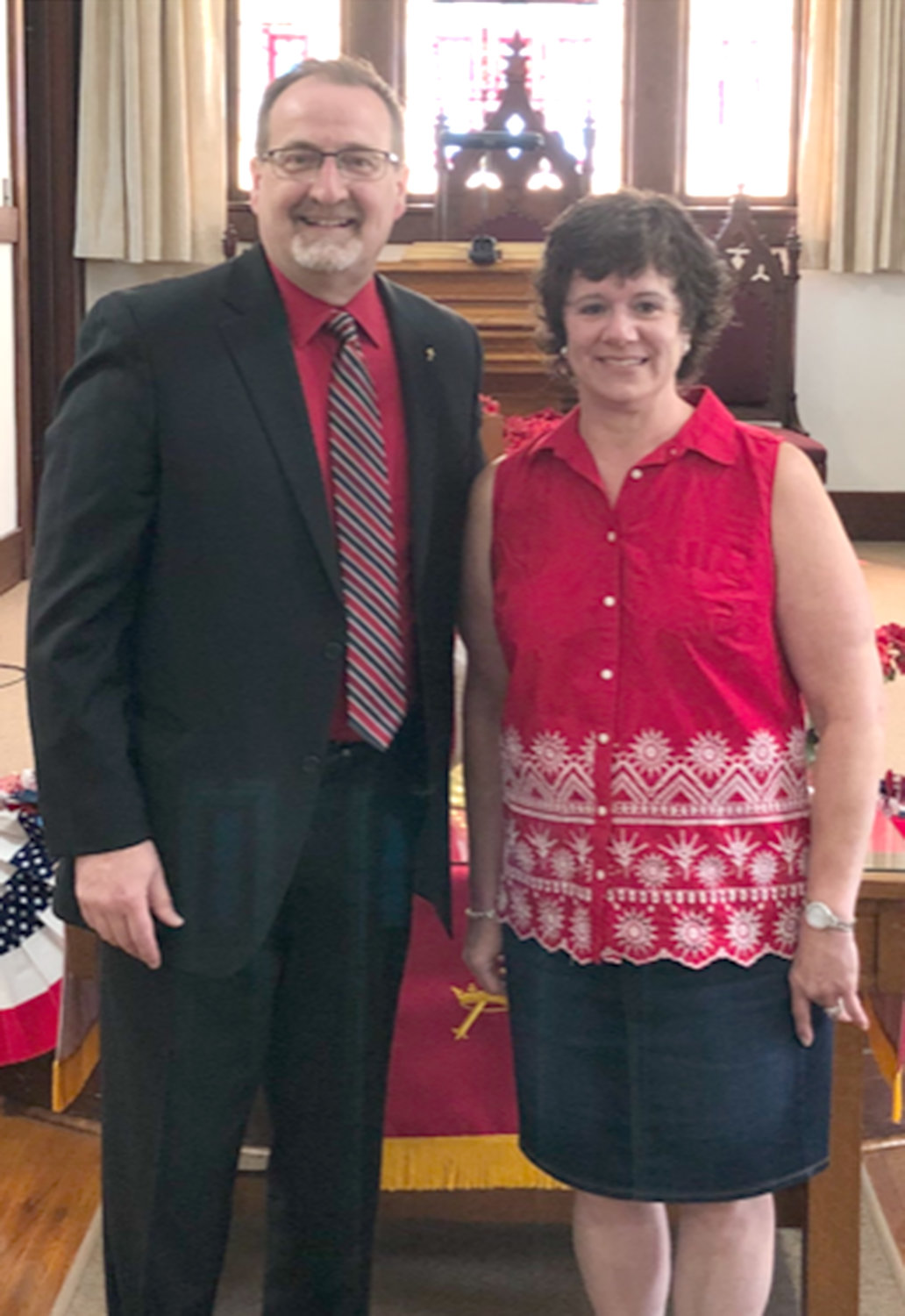 Servants Award — Rev. Robert Casler with honoree Sue Geer