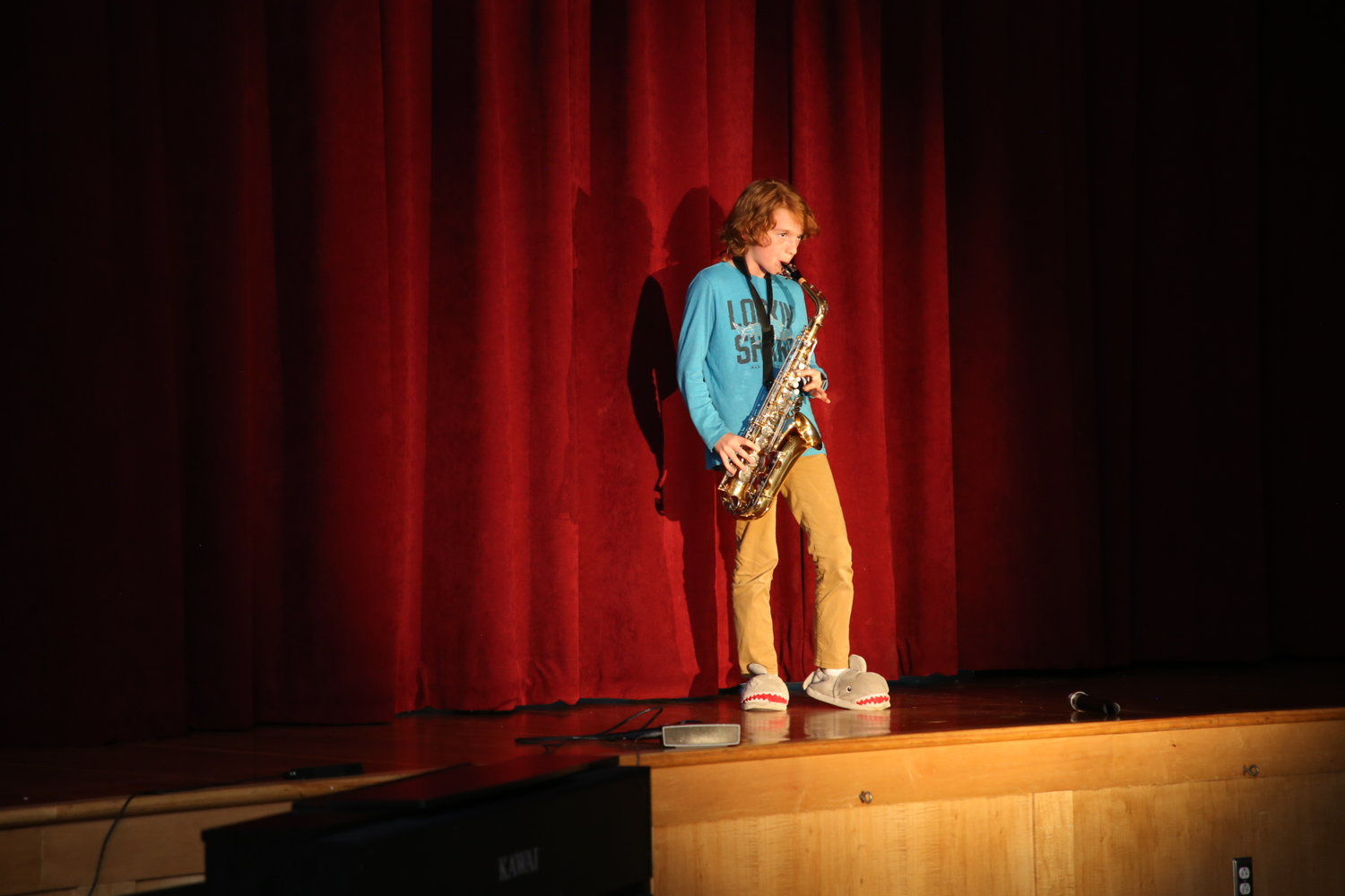 Nolan Moore- Played own arrangement of 5 songs for solo saxophone