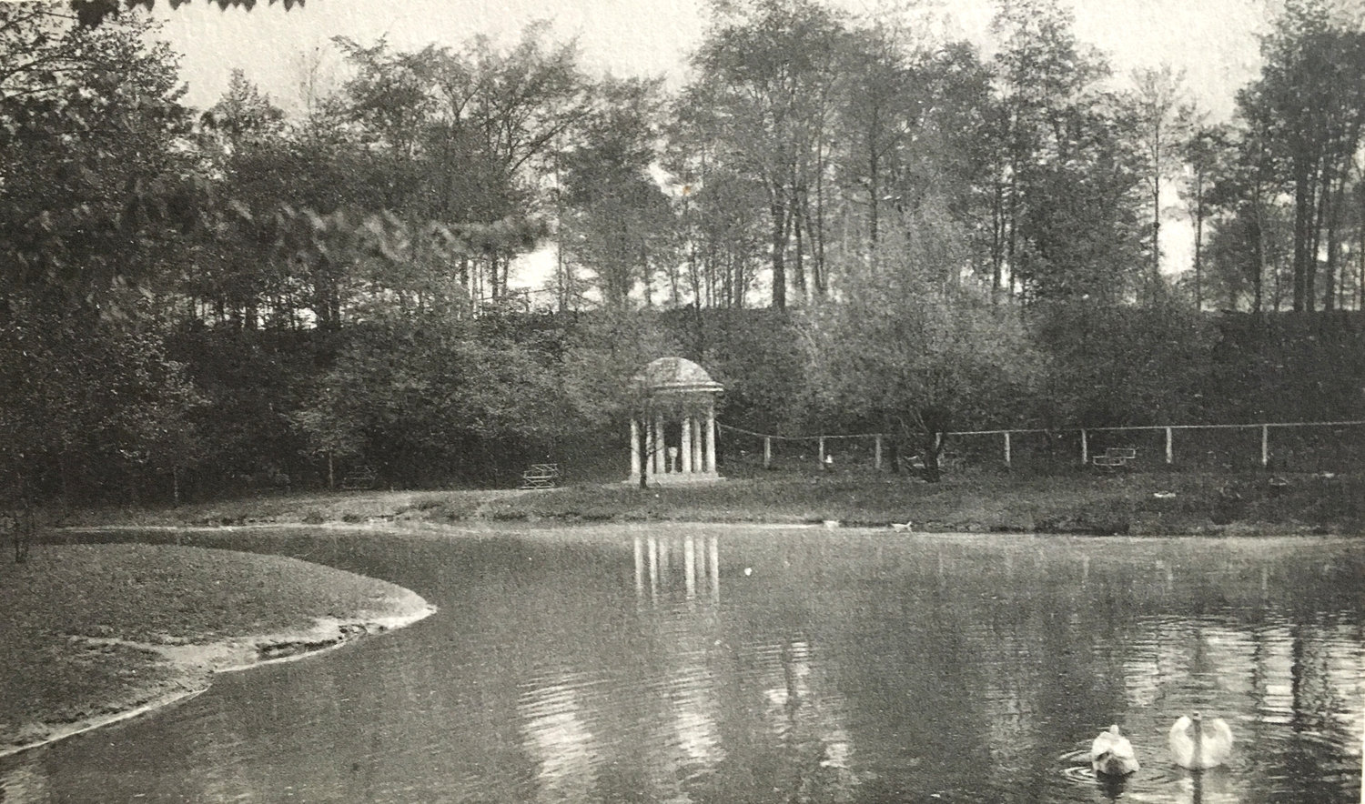 "YESTER-YEAR — A historic photo shows a ""neoclassical temple"" built by Utica's Proctors in F.T. Proctor Park."
