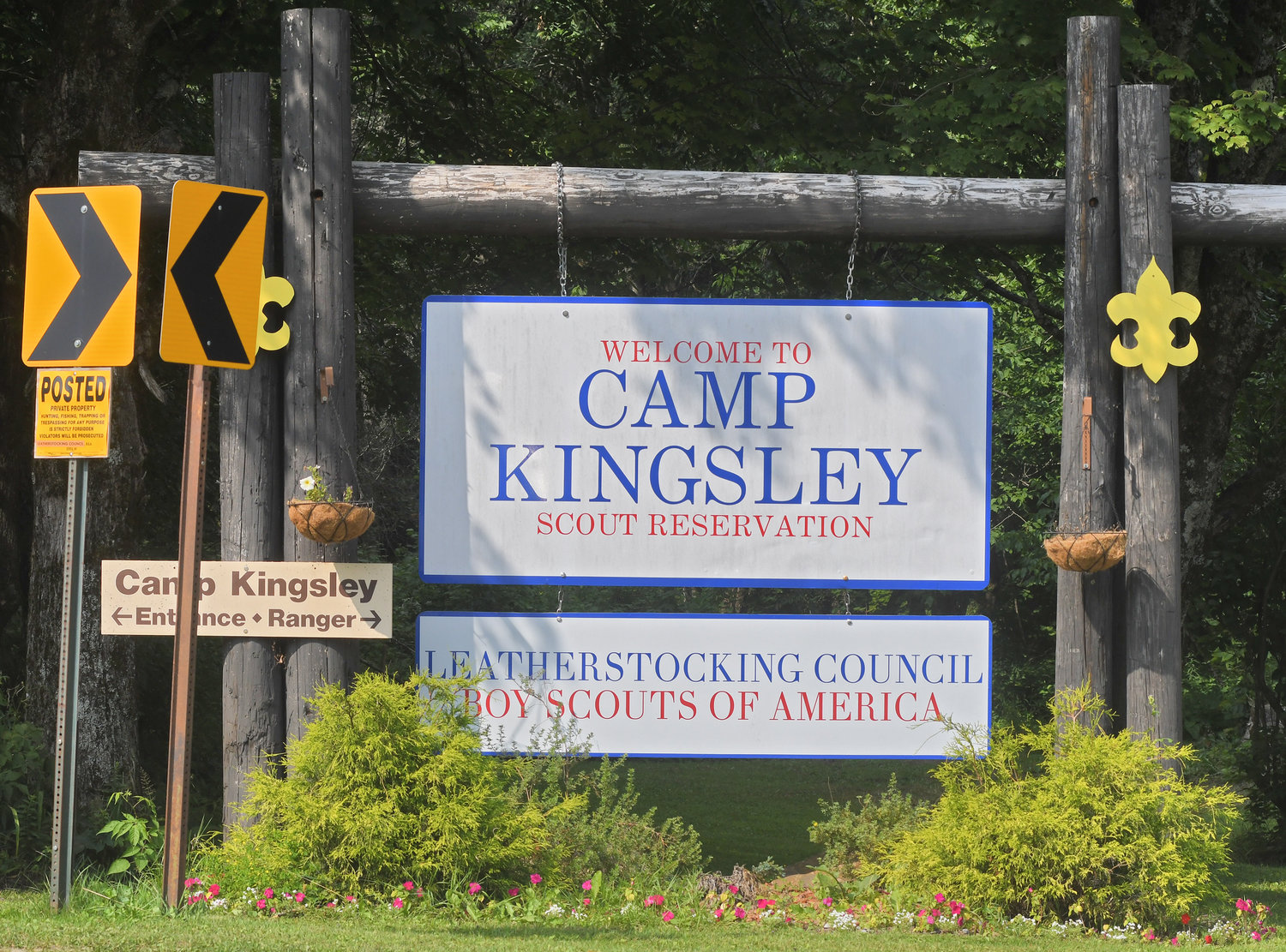 FUND DRIVE FOR CAMP — Camp Kingsley, a Boy Scouts site in Ava, may get a new welcome center if a fund drive raises $200,000 by next July 4. If the drive is successful, a donor has pledged an additional $100,000 toward the center's construction.