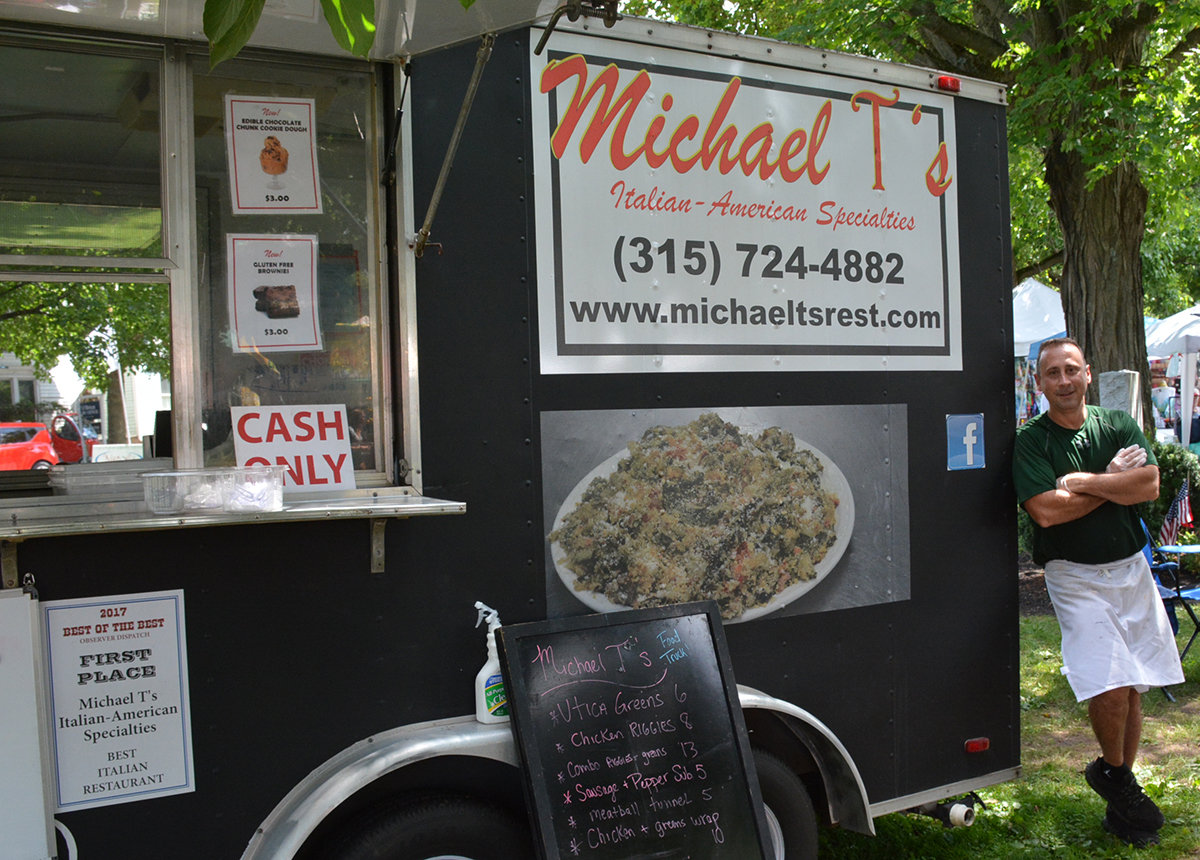 A ROLLING RESTAURANT — Known to his friends as Mike, or Mickey, Trunfio and his wife, Karen have a popular eatery at 8390 Seneca Turnpike in New Hartford, but the food truck gives them a chance to bring their menu to those who live in all parts of Utica. The Clinton residents serve North and East Utica, plus the suburbs at different area events.