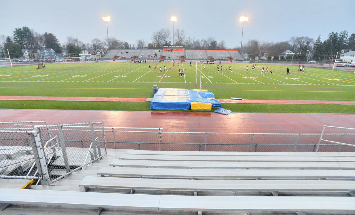 CHANGE IN FUNDING — Work involving Rome Free Academy Stadium's artificial turf, running track, and seating, shown in this file photo, can now receive state funding as the result of a change in plans by the state Education Department.