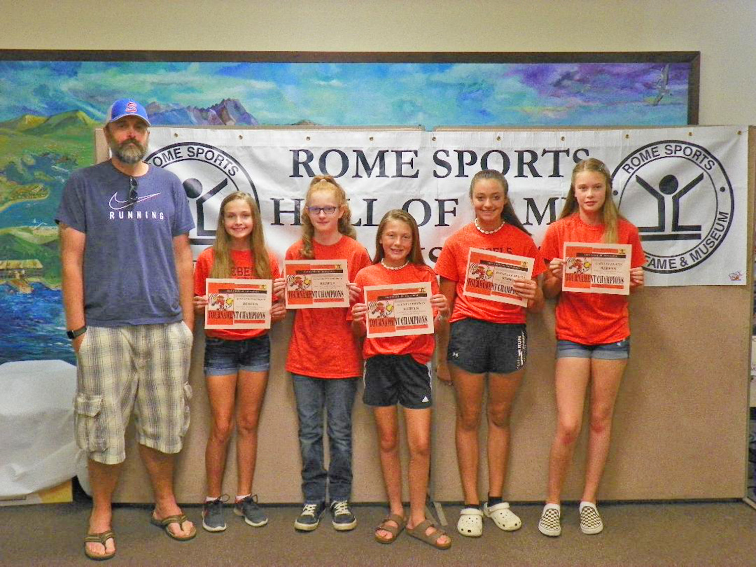 The Rebels team won the Rome Girls' Youth Softball Spring 12U Tournament championship.