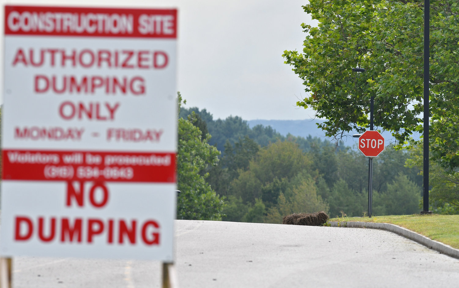 PLANS APPROVED — Over the hill and beyond the construction site sign — where the Skyline housing complex at the former Griffiss Air Force Base once was — is where plans call for a massive Orgill distribution center to be built on Atlas Drive. The project received a trio of needed approvals on Tuesday night from the city's Planning Board. Company officials predict a tentative opening date of January 2022 for the center which is expected to employ 225 workers.