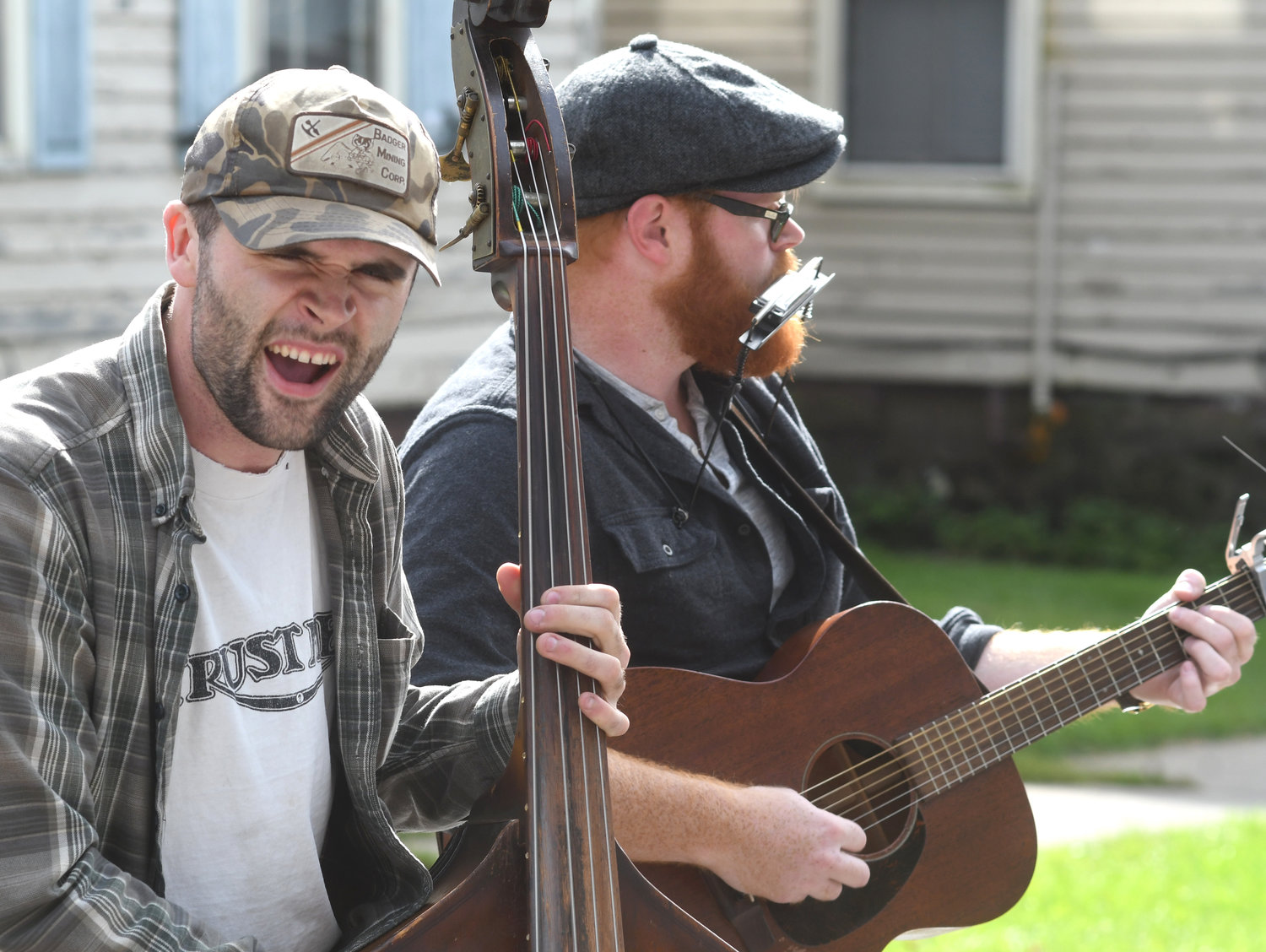 JAMMING — Nash Robb (left) and Seth Becker (right) of local folk group Old Main perform at the 39th annual Remsen Barn Fest last year.  This year's Barn Fest also features an array of different musical acts for visitors to enjoy.
