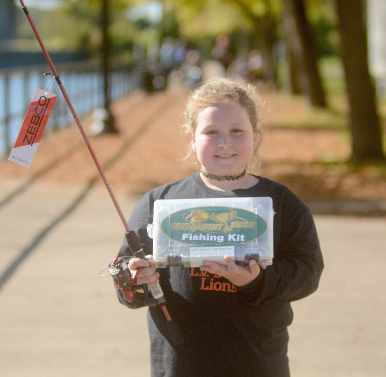 "Lily Riolo winner of biggest fish at 7"" and tied for most fish from the Youth Fishing Derby."