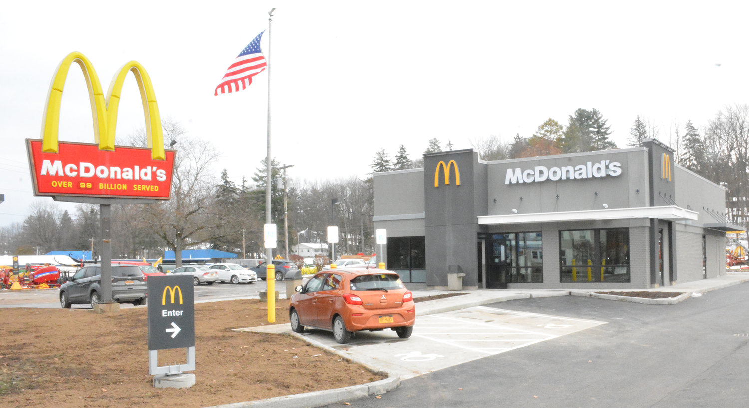 McNEW — Ground broke in late September on the major restoration project on the Meadow Street McDonald's and wrapped up on Friday, Nov. 15. The newly remodeled restaurant now offers specialized coffee drinks, kiosks, digital menus and soft muted decor.