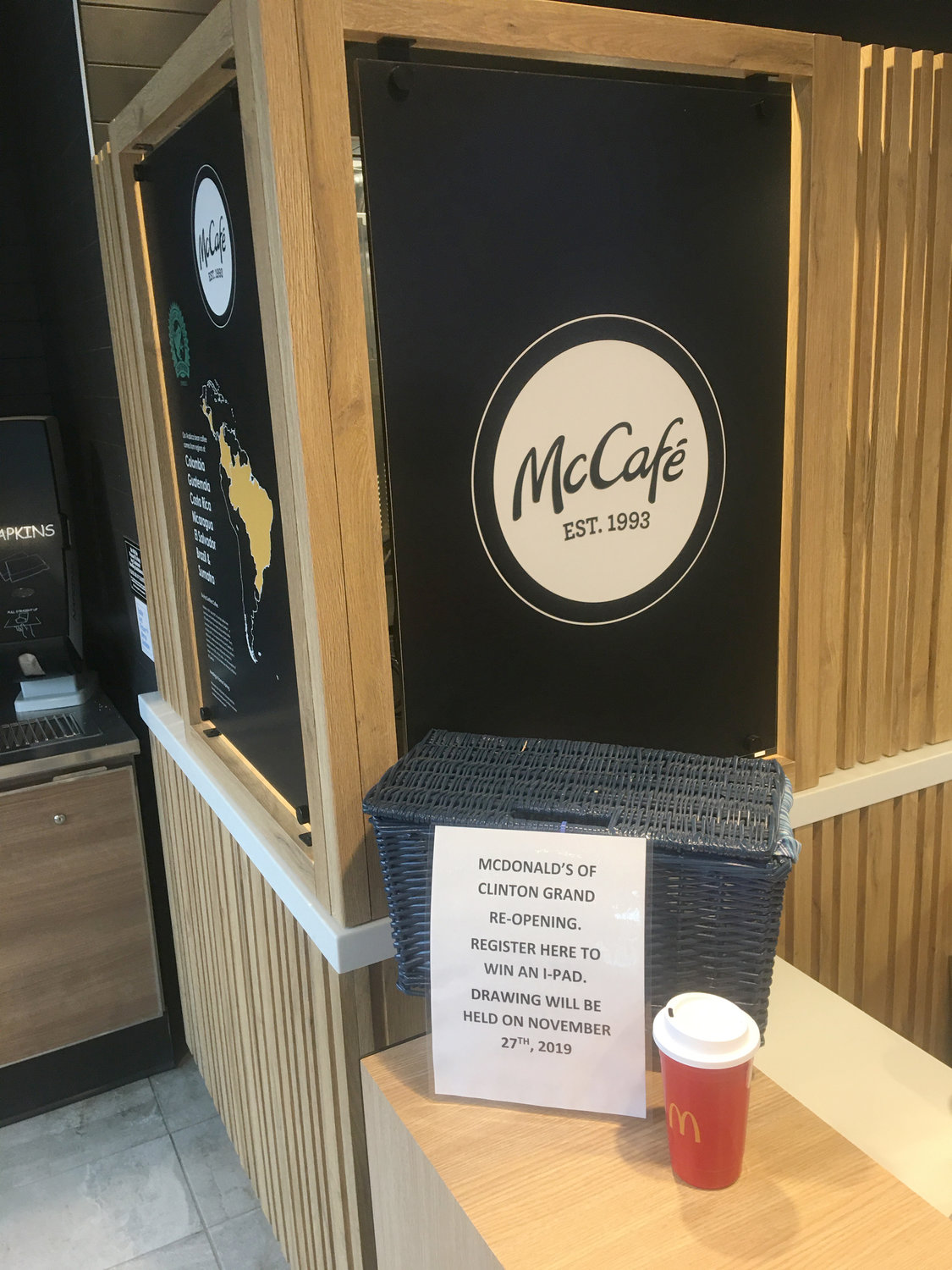 FANCY COFFEE— The Meadow St. McDonalds new McCafe coffee bar offers customers their favorite cappuccinos, lattes and macchiatos.