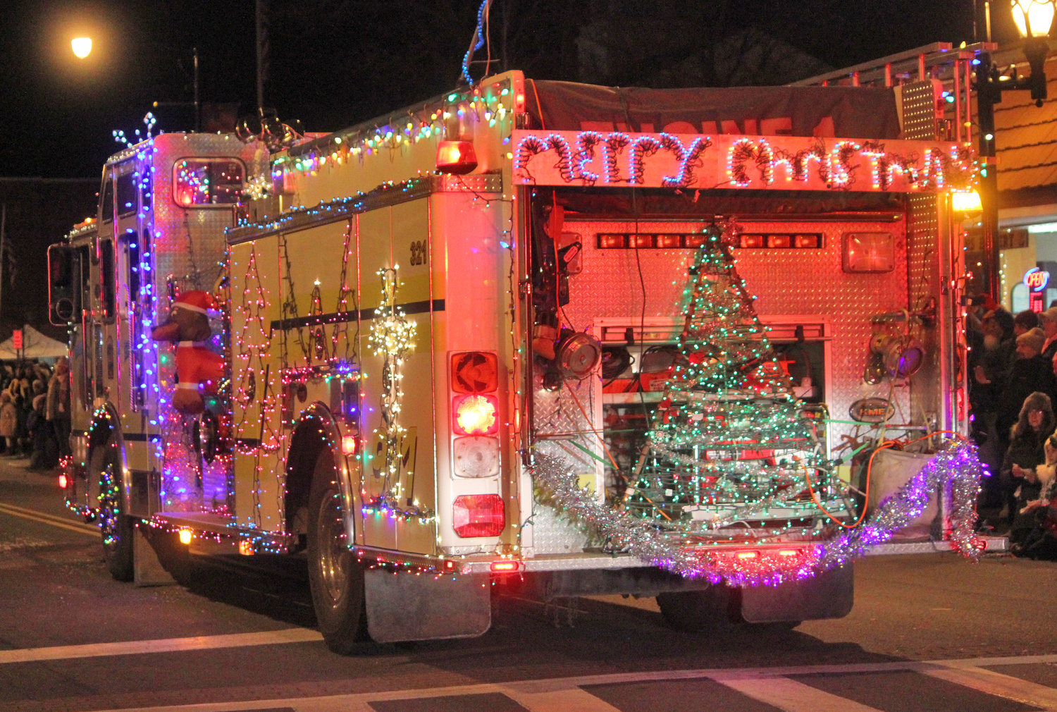 SEASONS GREETINGS — Towns and villages from all over join in to welcome the season of giving for the second annual Canastota Parade of Lights on Saturday, Nov. 30.