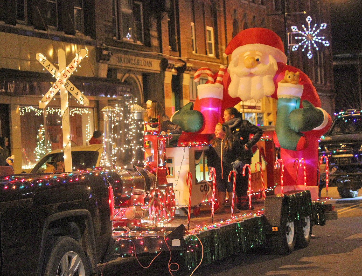 HERE COMES SANTA CLAUS — Towns, villages and organizations from all over join in to welcome the season of giving for the second annual Canastota Parade of Lights on Saturday, Nov. 30.