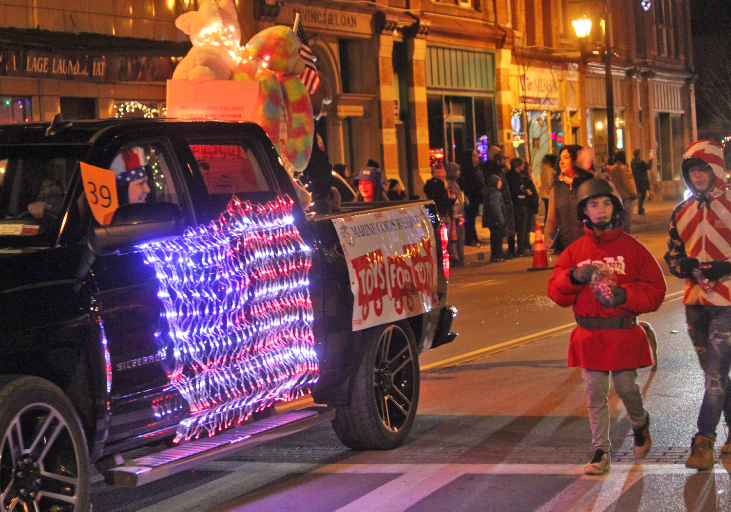 HOLIDAY SPIRIT — Towns, villages and organizations from all over join in to welcome the season of giving for the second annual Canastota Parade of Lights on Saturday, Nov. 30.