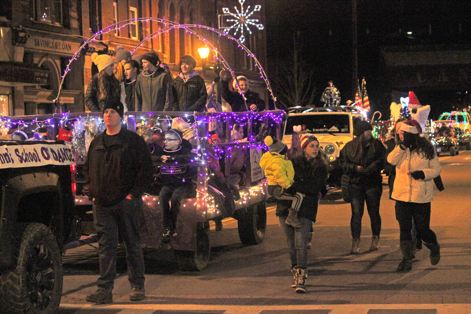 SEASONS GREETINGS — Towns, villages and organizations from all over join in to welcome in the season of giving for the second annual Canastota Parade of Lights on Saturday, Nov. 30.