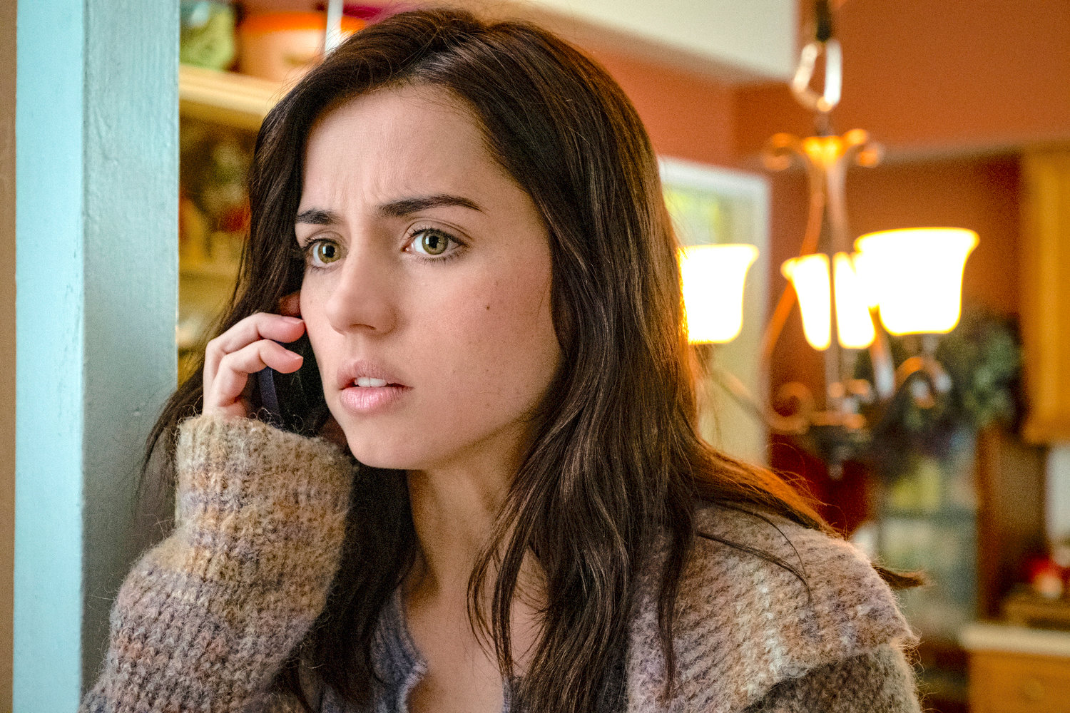 "IMPROMPTU SIDEKICK — Ana de Armas in a scene from ""Knives Out."""