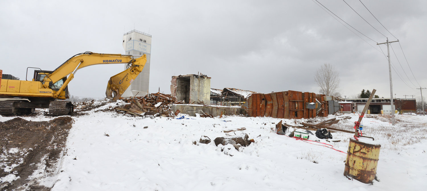 HEAVY METAL — Former Rome Cable site being torn down and metal being sorted for recycling on Jan. 8, 2020.