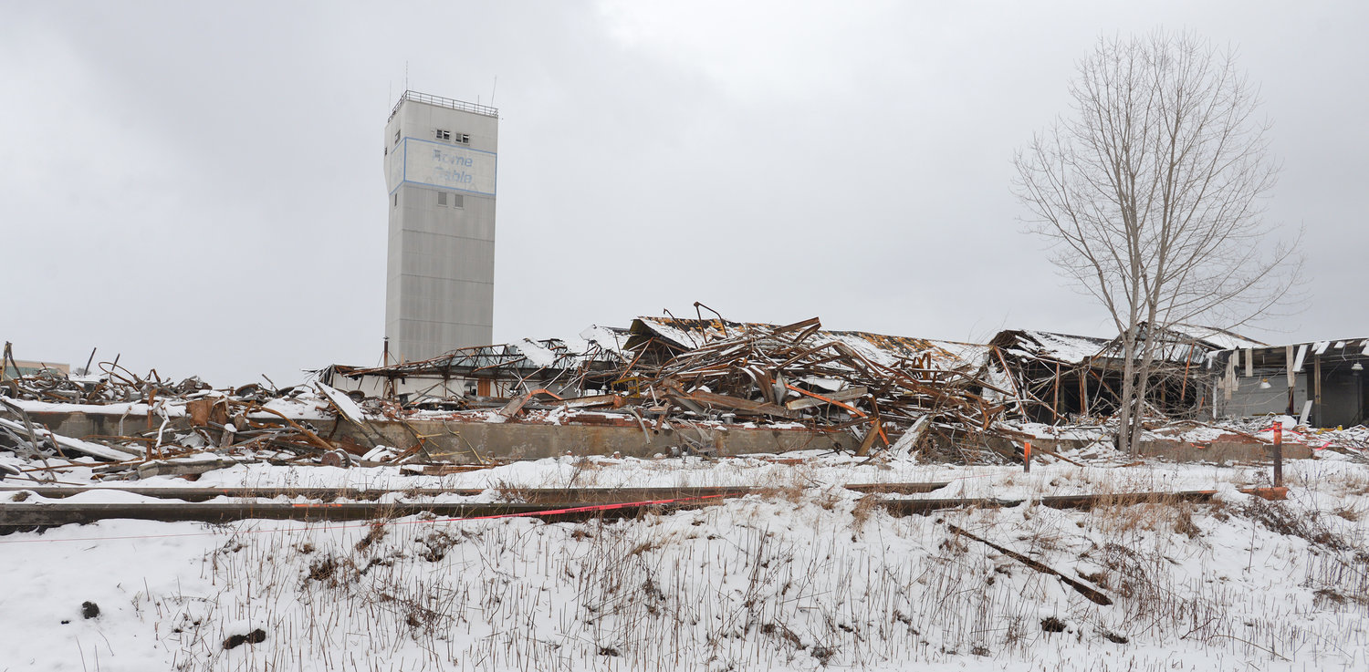 LEVELING — Former Rome Cable site being torn down on Jan. 8, 2020.