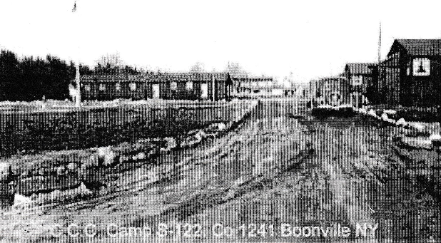 BOONVILLE POW CAMP — This POW camp was located on the Hawkinsville Road.