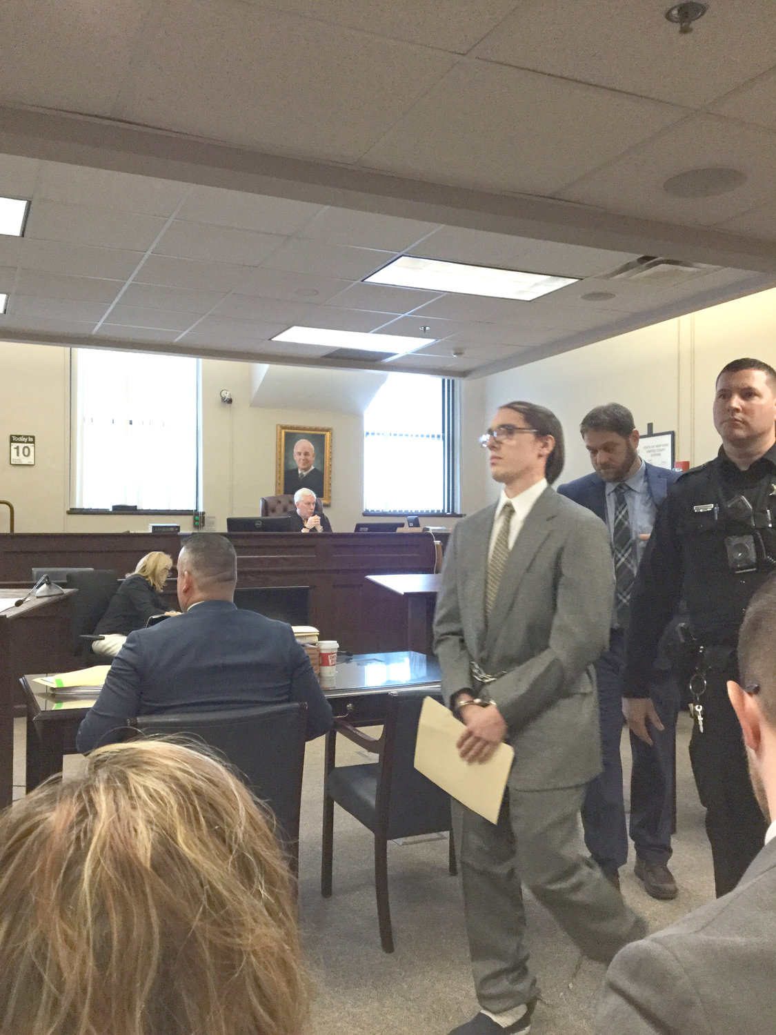 GUILTY PLEA — Brandon A. Clark admitted in County Court Monday morning to killing 17-year-old Bianca Devins, of Utica, by slashing her throat in the early morning hours of July 14.