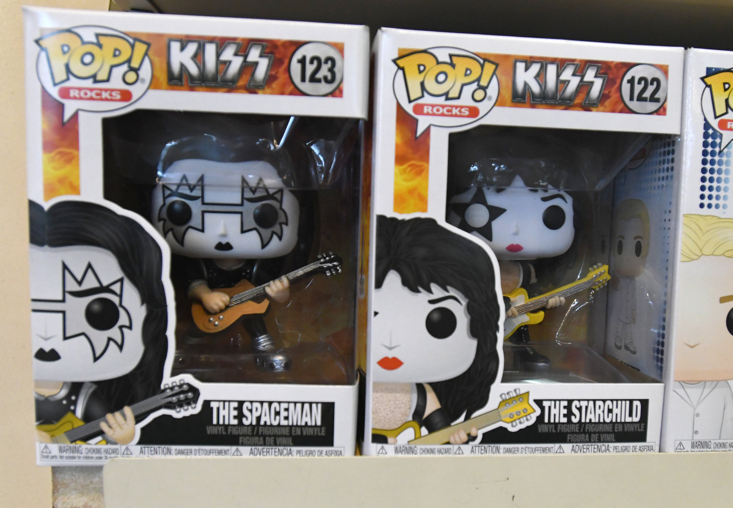 GIVE THEM A KISS — These Funko figurines are very popular with collectors because they feature characters from comics, movies, music, television, literature and more. These KISS figurines are only two of the thousands available at The 4th Wall in New Hartford.